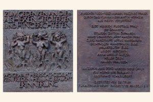 Gedenken an die Opfer der Hexenverfolgungen des Erzmainzischen Rechtsamtes Hofheim in diesem Jahr räumlich getrennt aber in Verbindung